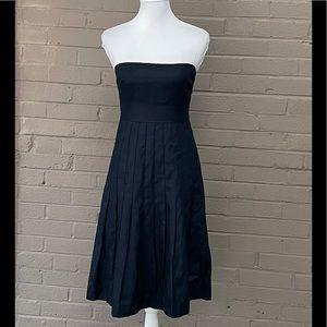 J. Crew NWT Navy linen strapless dress 4